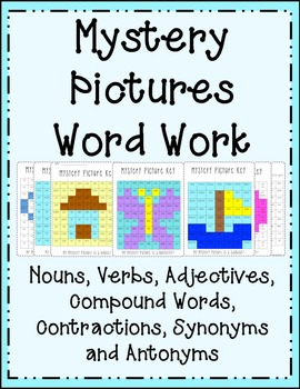 Mystery Pictures {Parts of Speech} Nouns, Verbs, Adjectives and much more!