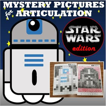 Mystery Pictures for Articulation for Speech Therapy Star Wars  r, s, l, blends