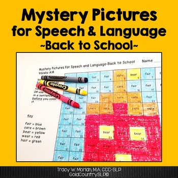 Mystery Pictures for Speech & Language - School