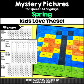 Mystery Pictures for Speech & Language Spring 4,600 words
