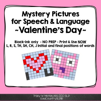 Mystery Pictures for Speech & Language Valentine's Day