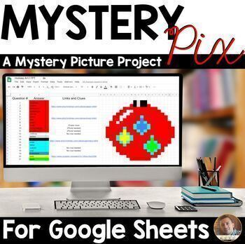 Mystery Pixels- A Mystery Picture Project for Google Sheets™ & Classroom™