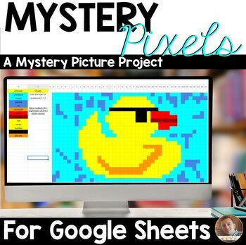 Mystery Pixels- National Rubber Ducky Activity Google Sheets™ & Classroom™