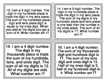 Mystery Place Value (Level 3)
