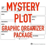 Mystery Plot Graphic Organizer Package