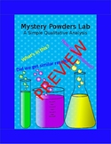 Mystery Powder - A Simple Qualitative Analysis Lab
