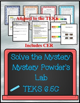 Mystery Powder Lab - Stations  with CER (TEKS 6.5D)