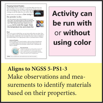 Mystery Powder NGSS 5-PS1-3