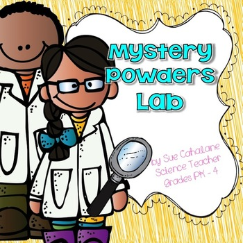 Mystery Powders Lab {Aligns with NGSS 5-PS1-3} {science}