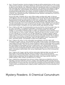 Mystery Powders Lab Investigation
