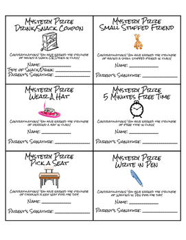Mystery Prize Classroom Coupons