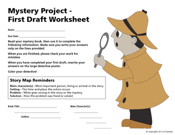 Mystery Book Report - Story Map