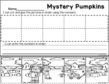 Mystery Pumpkins - Number Order Practice