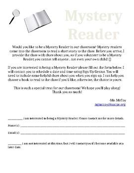 Mystery Reader Form