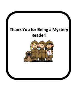 Mystery Reader Reminder and Thank You