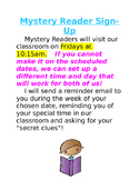 Mystery Reader Sign Up Sheet