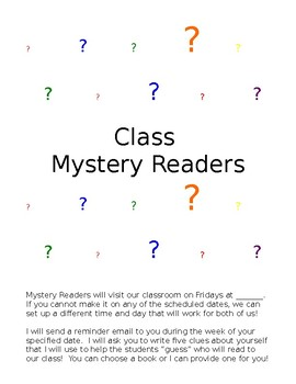Mystery Reader for the Classroom