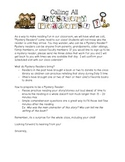 Mystery Reader letter to Parents
