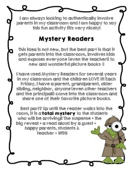 Mystery Reader with a Frog Theme