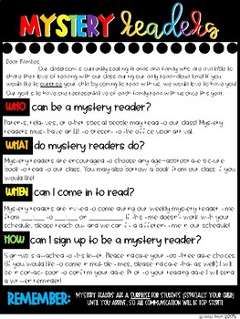 Mystery Readers Kit - Parent Letter, Sign Up, Thank You