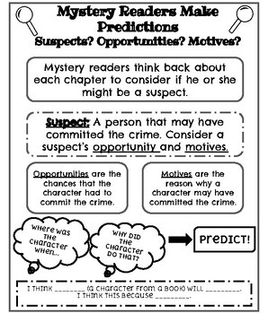 Mystery Readers Predictions Anchor Chart