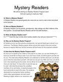 Mystery Readers Q&A and Sign Up Sheet