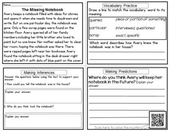 Mystery Reading Comprehension Passages