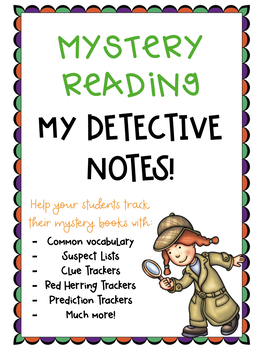Mystery Reading: My Detective Notebook!
