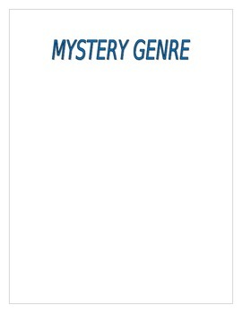 Free Mystery Genre Reading Response