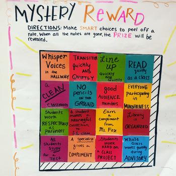 Mystery Reward Board Task Cards