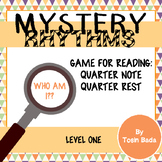 Mystery Rhythms- Rhythm Game {Quarter Note, Quarter Rest}