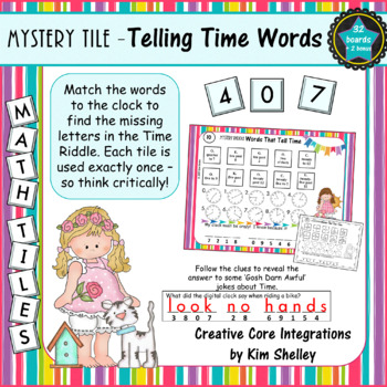 Mystery Riddle Telling Time with WORDS