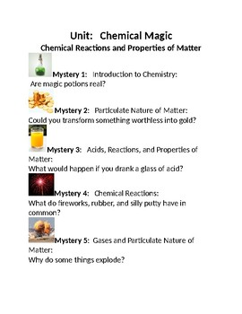 Mystery Science Chemical Magic Mystery 1 and 2