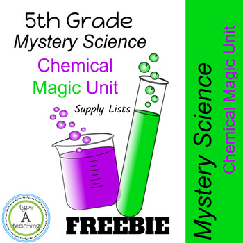 Mystery Science: Chemical Magic Unit Supply List