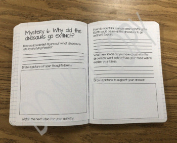 Mystery Science Grade 5 Interactive Notebook