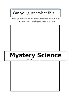 Mystery Science Photo Competition