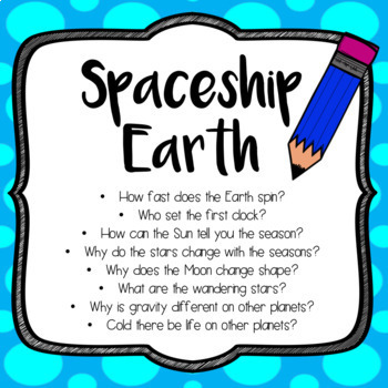 Mystery Science, SPACESHIP EARTH - 5th Grade - Quick Checks / Assessments
