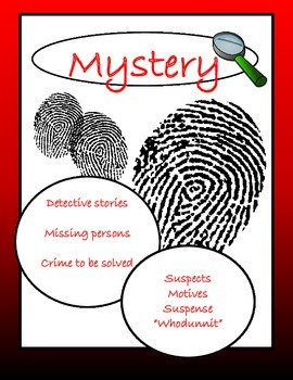 Printable Genre Sign: Mystery