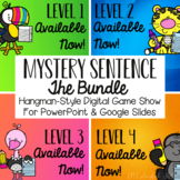 Mystery Sentence Digital Game Show BUNDLE (Levels 1-4) - D