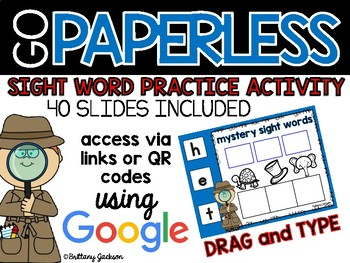 Mystery Sight Word Activity using Google Slides