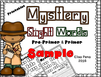 Mystery Sight Word Freebie