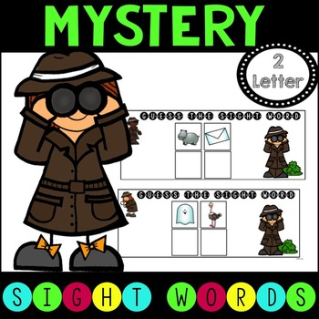 Mystery Sight Word Game for Work Stations - 2 letter words