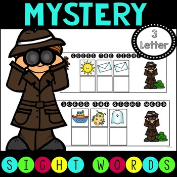 Mystery Sight Word Game for Work Stations - 3 letter words