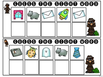 Mystery Sight Word Game for Work Stations - 5 letter words