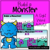 """Build a Monster: Mystery Sight Word """"Hangman"""" Twist Game 