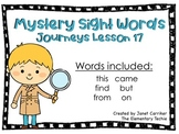 Journeys Kindergarten Lesson 17 Mystery Sight Word Interactive Game