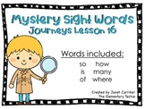 Journeys Kindergarten Lesson 16 Mystery Sight Word Interactive Game