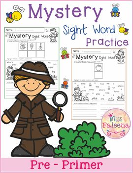 Mystery Sight Word Practice (Pre-Primer)