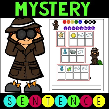 Mystery Sight Word Sentences for Work Stations