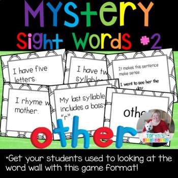 Mystery Sight Words #2
